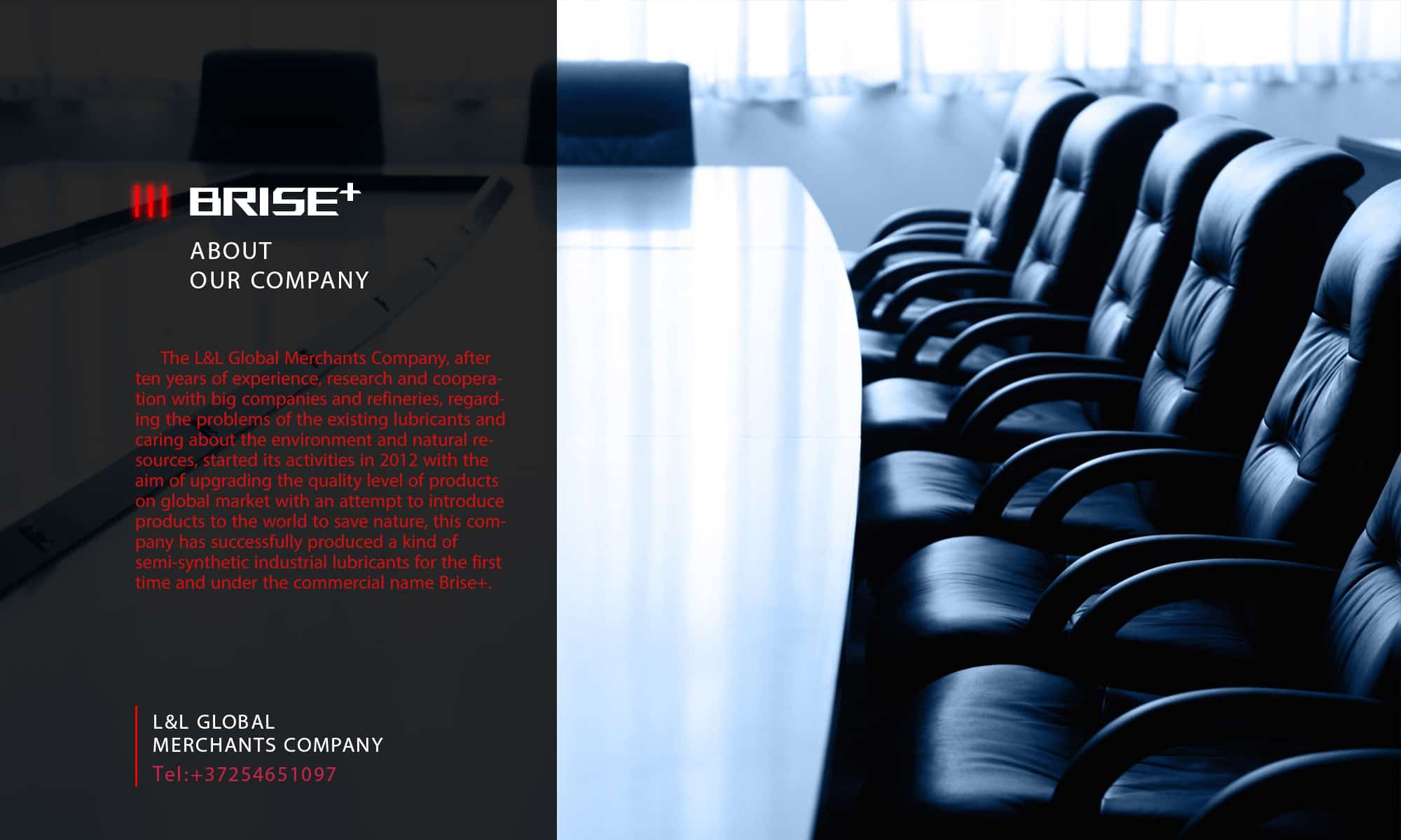 BRISE PLUS MEETING ROOM AND TEXT ABOUT COMPANY