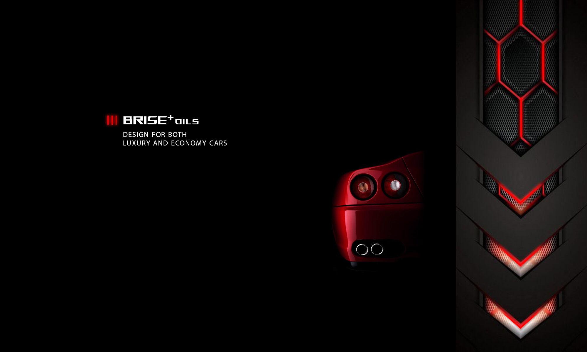 BRISE PLUS MOTOR OIL RED CAR ON BLACK BG F