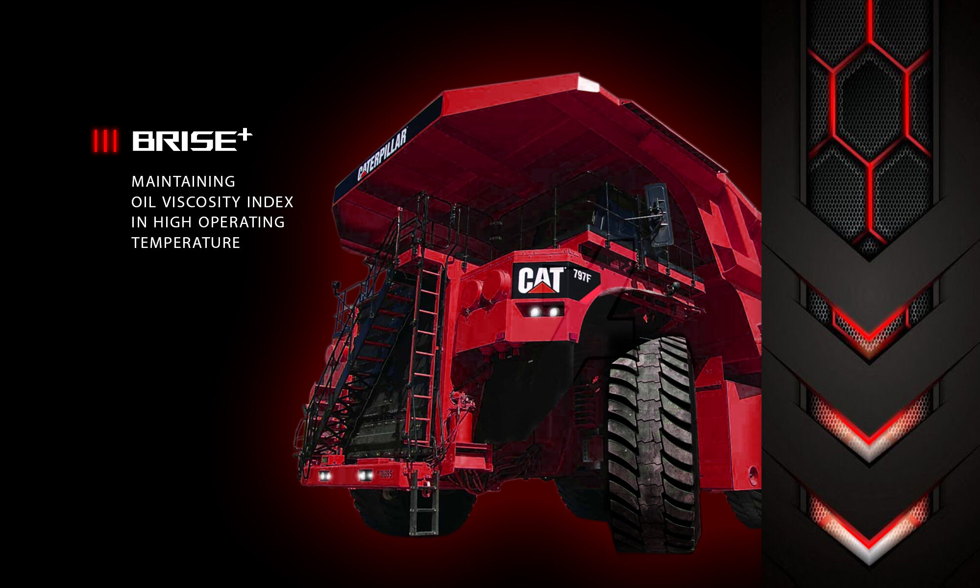 BRISE PLUS HIGH TEMPERED OPERATED OIL WITH BIG DUMPTRUCK